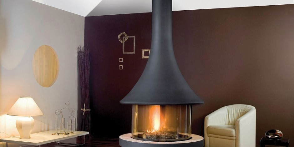 Contemporary gas fire design