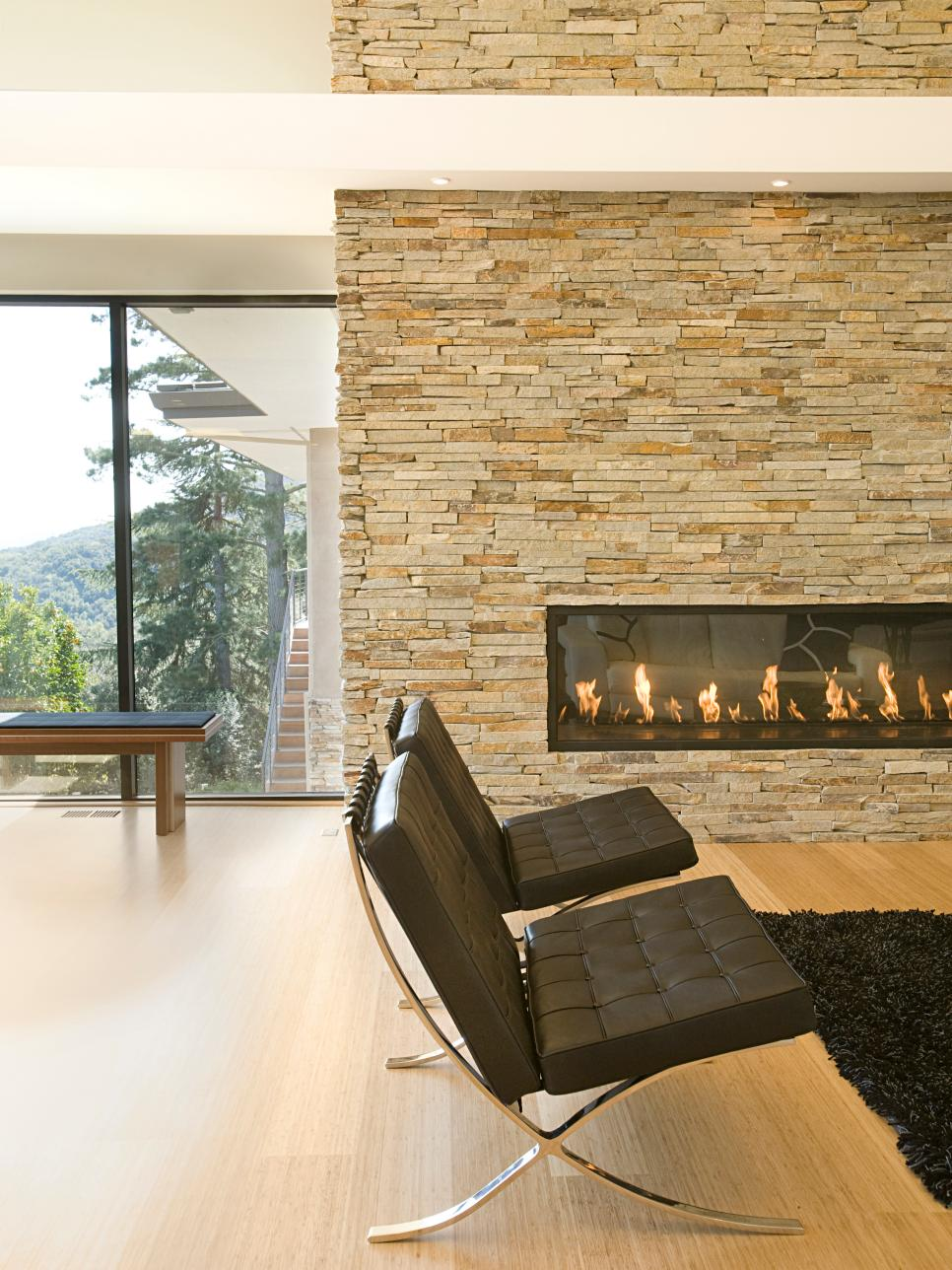 Modern designer fireplaces