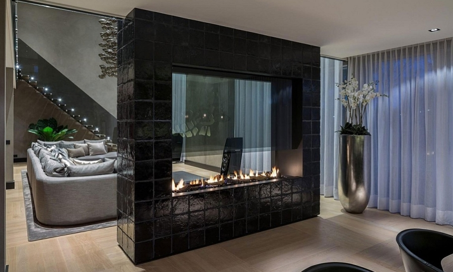 Edgy Design of Double Sided Gas Fire
