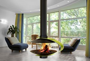 Hanging Fireplace - modern fireplaces - hanging fireplaces