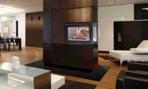 Modern Two-Sided Fireplace - modern fireplaces