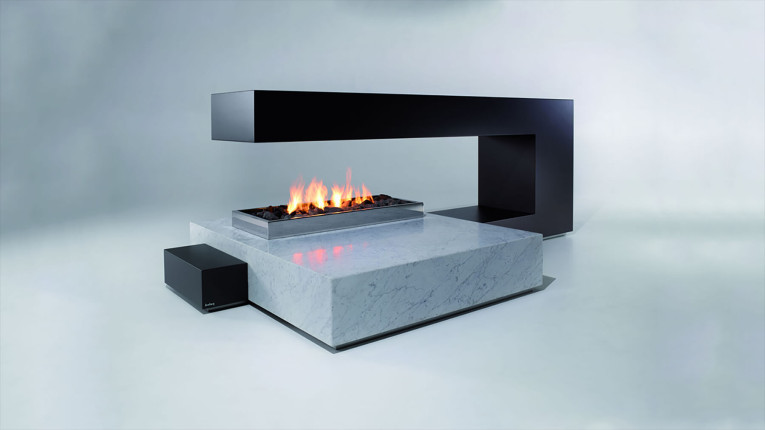 unique gas fireplace design