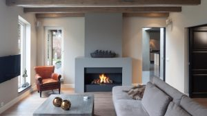 bespoke centrepiece - modern fireplace - wall fire