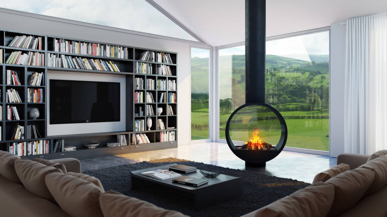 unique gas fire design