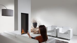 double-sided contemporary fireplaces - wall fire
