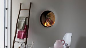 propane bespoke fireplaces - hanging fire - wall fire - modern fireplaces