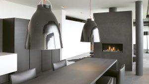 propane bespoke fireplaces - hanging fire - wall fire