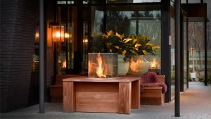 outdoor gas fire - modern fireplaces