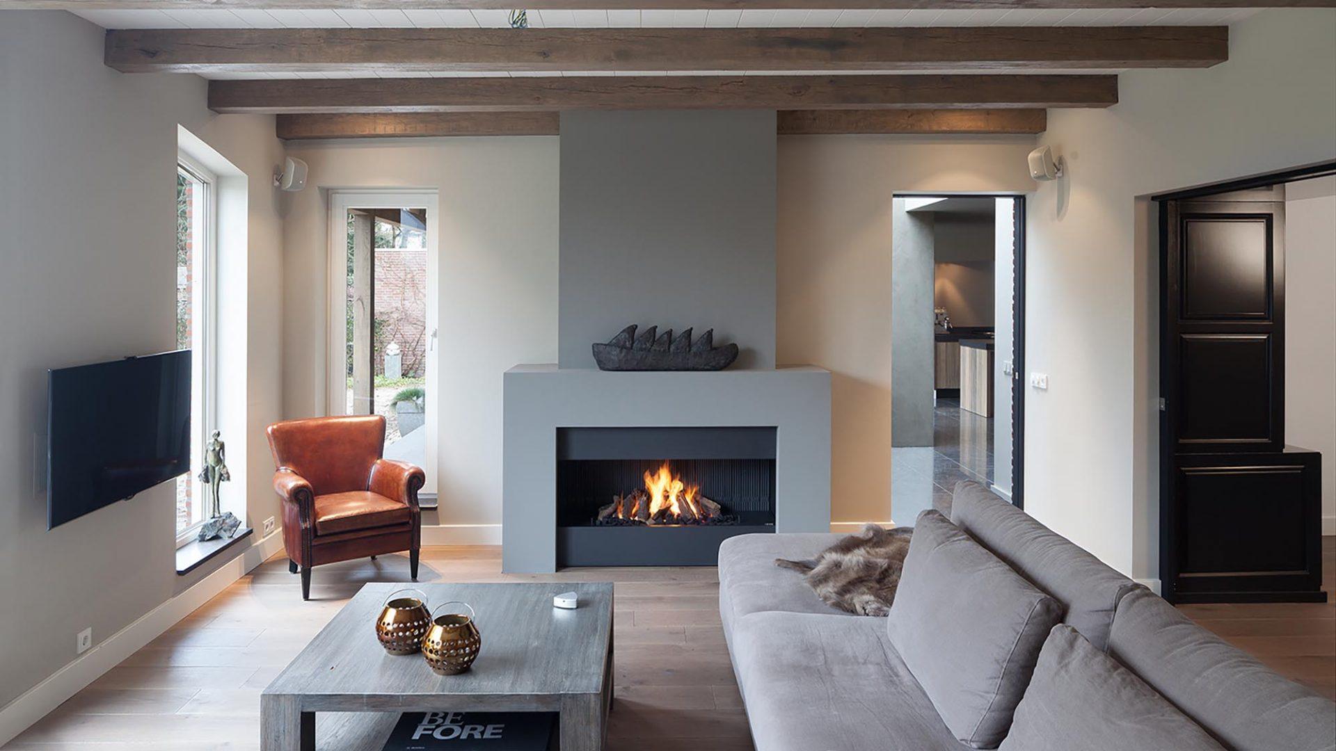 modern fireplaces - wall fire
