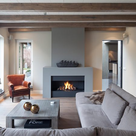 modern fireplaces - wall fire