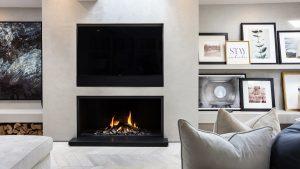 modern fireplace - wall fire