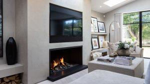 modern fireplace - fireplace - wall fire