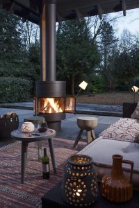 luxury gas fire - hanging fireplaces - modern fireplaces