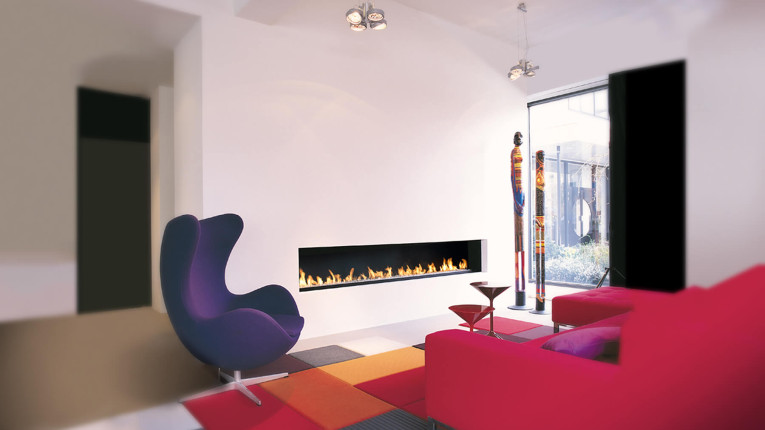 bespoke fireplace - wall fire - modern fireplaces