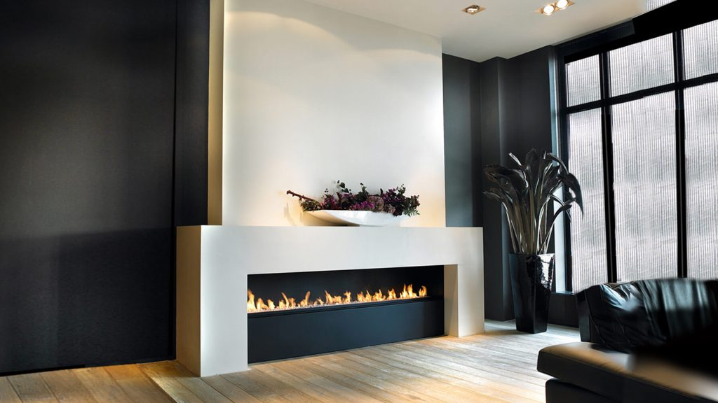 bespoke linear fireplace