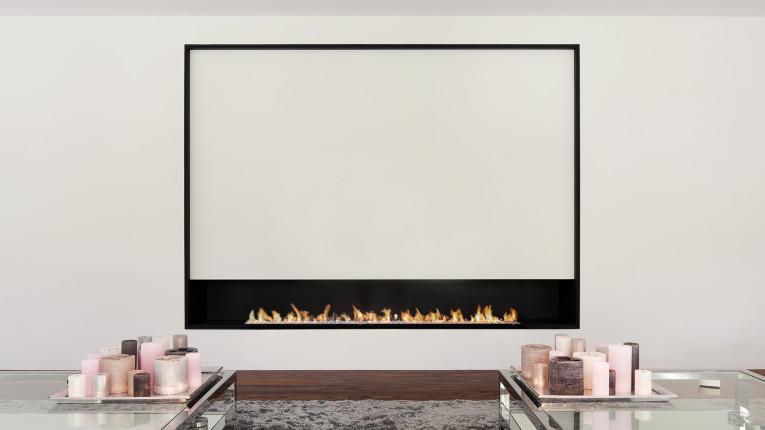 elegant bespoke fireplace