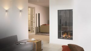 Fact 1 An Energy-Saver - wall fire - hanging fireplace