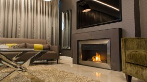 Natural Gas or Propane - hanging fireplace - modern fireplace