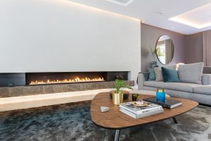 Long gas linefire in modern home