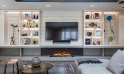 Bespoke bioethanol fireplace - Fireplace under TV