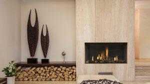 Modern Wood Inset Wall Fireplace