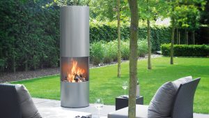 Portability - modern fireplace - outdoor fireplace