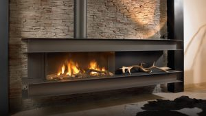 The Classicist - Steel Beam Covered Wall Fireplace