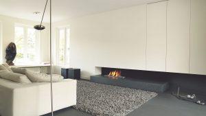 The Minimalist - modern fireplace - wall fire