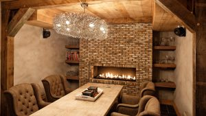 The Traditionalist - Inset Wall Fireplace in Brick Wall
