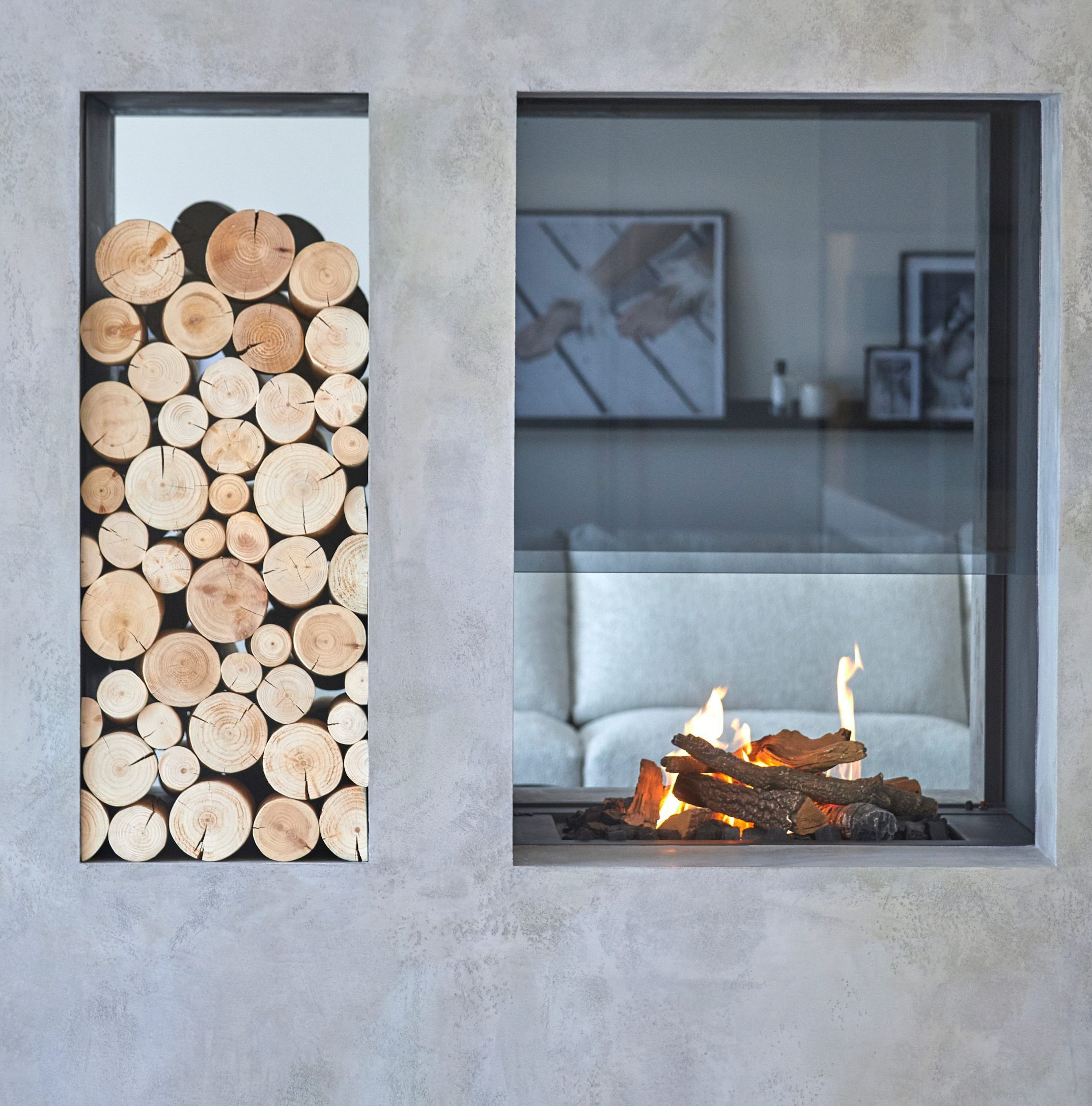 Modus Fireplaces - Wall Fires - Small Hole in the Wall Fireplace