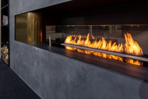 Modus Fireplaces - Bioethanol Fireplaces - Close up photo of Inset Wall Fire