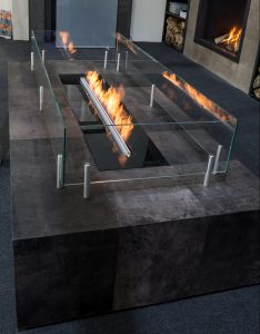 Linefire in Glass cabinet