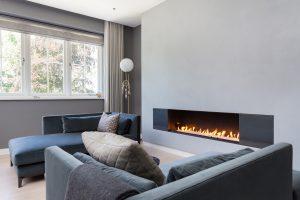 Wall Fire in Modern Home