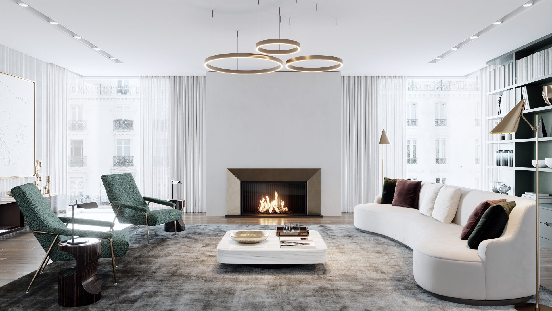 Modus Fireplaces - Modern Gas Fires - 844 Bronze Bespoke Gas Fire